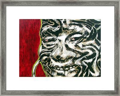 Nuba Paint Framed Print by Chester Elmore