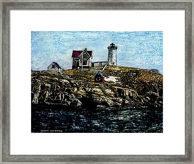 Nubble Light - York Maine Framed Print