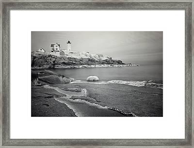 Nubble Light Black And White Framed Print by Luke Moore