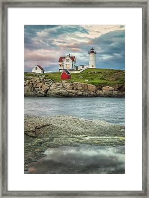 Nubble Light Framed Print by Brian Caldwell