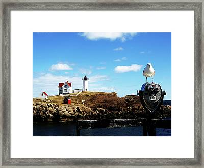 Nubble Light House Framed Print