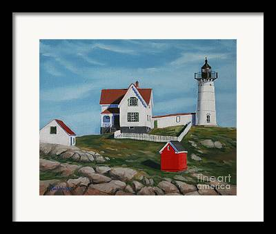 Maine Shore Framed Prints