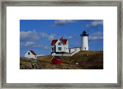Nubble Light Framed Print by Lois Lepisto