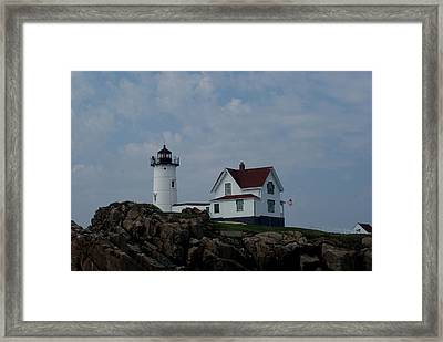 Nubble Light Maine Framed Print by Lois Lepisto