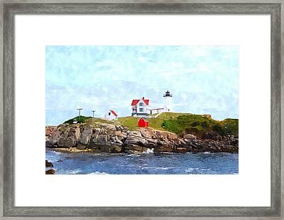 Nubble Light Nlwc Framed Print