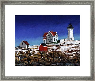 Nubble Light Framed Print by Paul Gardner