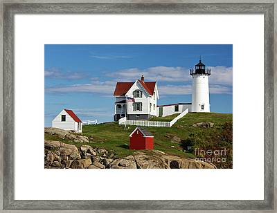 Nubble Lighthouse - D002365 Framed Print by Daniel Dempster