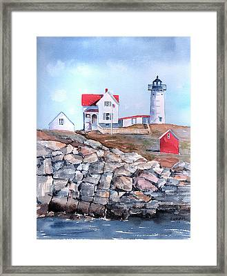 Nubble Lighthouse - Maine Framed Print