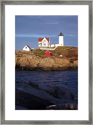 Nubble Lighthouse  Maine Framed Print