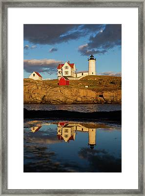 Nubble Lighthouse Framed Print by Mircea Costina Photography