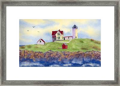 Nubble Lighthouse York Maine  Framed Print