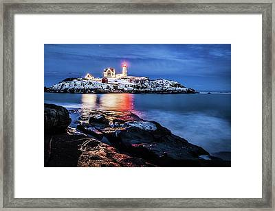 Nubble Lights Framed Print by Robert Clifford