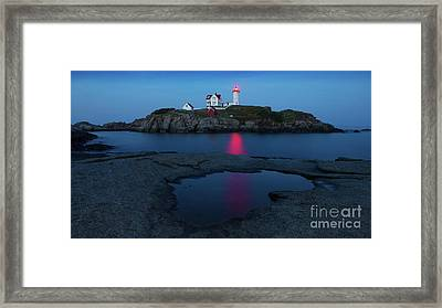 Nubble Puddle Framed Print by Jerry Fornarotto