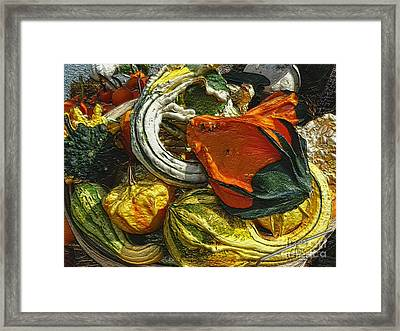 Nubby Squash Framed Print