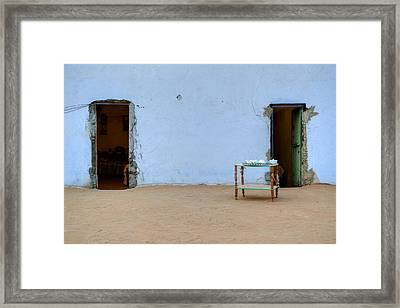 Nubian House In Egypt Framed Print