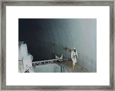 Nuclear Engineer Inside Unit 2 Framed Print