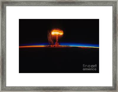 Nuclear Explosion Framed Print by Stocktrek Images