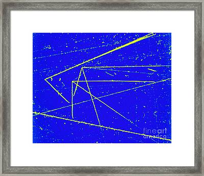 Nuclear Particle Tracks Framed Print by Omikron