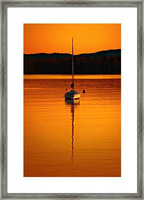 Nuclear Sunset Framed Print