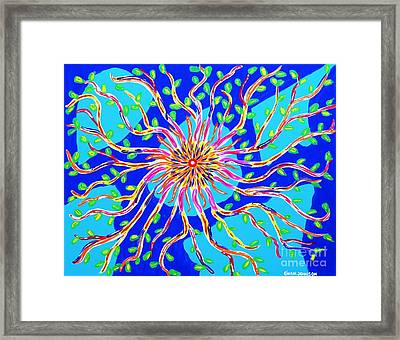 Nucleus Of Life Framed Print by Gina Nicolae Johnson