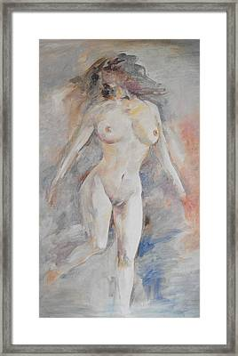 Nude 1 Framed Print by Min Wang