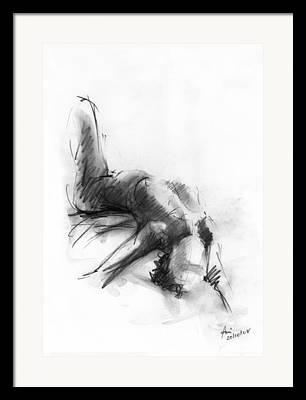 Figures Drawings Framed Prints