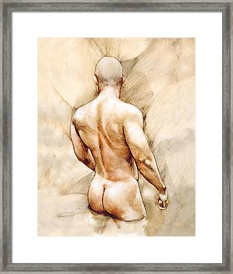 Nude 40  Framed Print by Chris Lopez