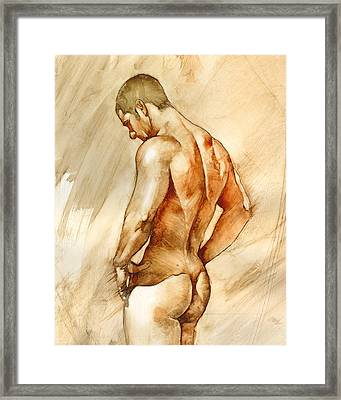 Nude 41 Framed Print by Chris Lopez