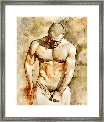 Nude 43 Framed Print by Chris Lopez