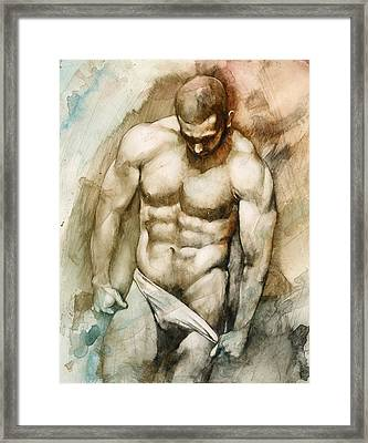 Nude 49 Framed Print by Chris Lopez