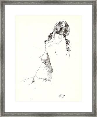 Nude 9 Framed Print