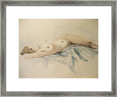 Nude 9 Framed Print by Victoria Heryet