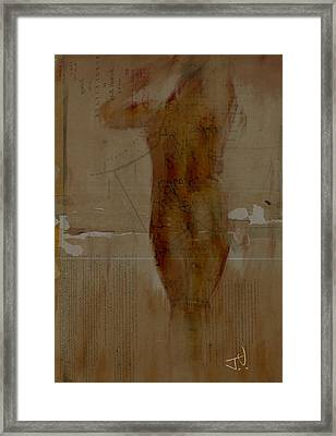 Nude Abstract 12feb2016 Framed Print