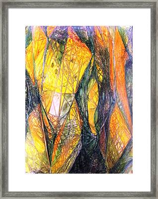 Nude Abstraction X 2 Framed Print by David Raderstorf