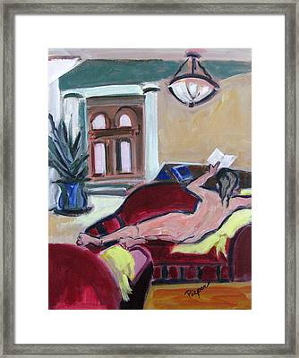 Nude And Foyer Framed Print by Betty Pieper