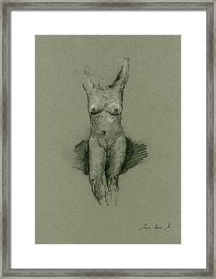 Nude Art Print Drawing Framed Print