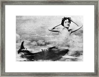 Nude As Mermaid, 1890s Framed Print by Granger