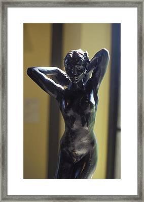 Nude By Rodin Framed Print by Carl Purcell