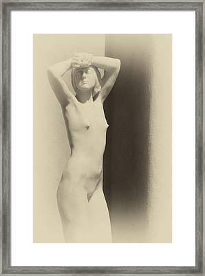 Nude Framed Print by Carolyn Dalessandro