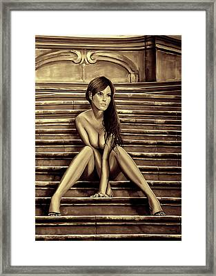 Nude City Beauty Sepia Framed Print by Paul Meijering