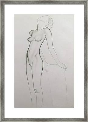 Nude Framed Print by Eric Gill