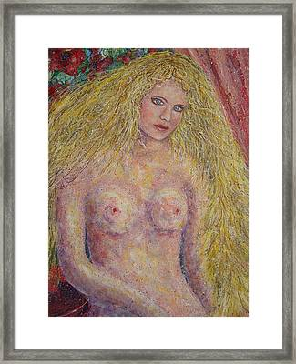Framed Print featuring the painting Nude Fantasy by Natalie Holland