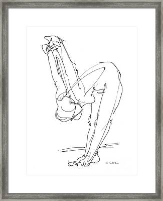 Nude Female Drawings 10 Framed Print