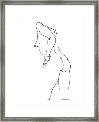 Nude Female Drawings 11 Framed Print