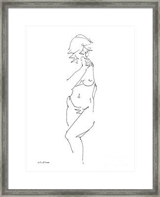 Nude Female Drawings 18 Framed Print