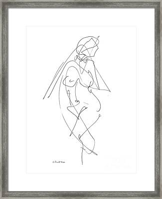 Nude Female Drawings 6 Framed Print