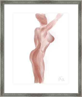Nude Figure Framed Print by Ronald Terrel