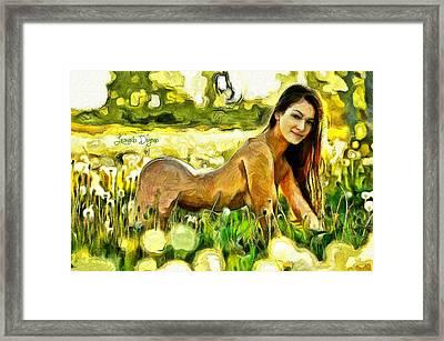 Nude Flower Framed Print by Leonardo Digenio