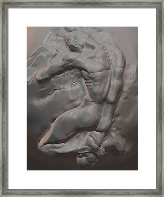 Nude In Marble Framed Print