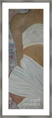 Nude In Spa Framed Print by Dorota Nowak